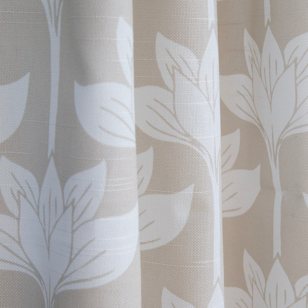 beige and white floral drapery tonic living