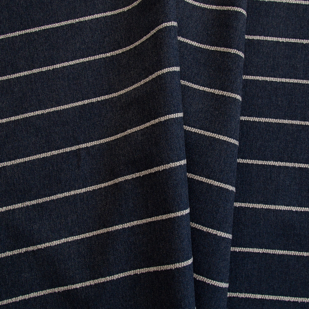 Avalon Stripe Fabric, Marine, by Tonic Living