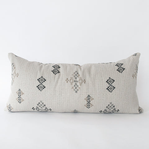 Austin (Extra Long) lumbar putty grey southwestern pillow from Tonic Living