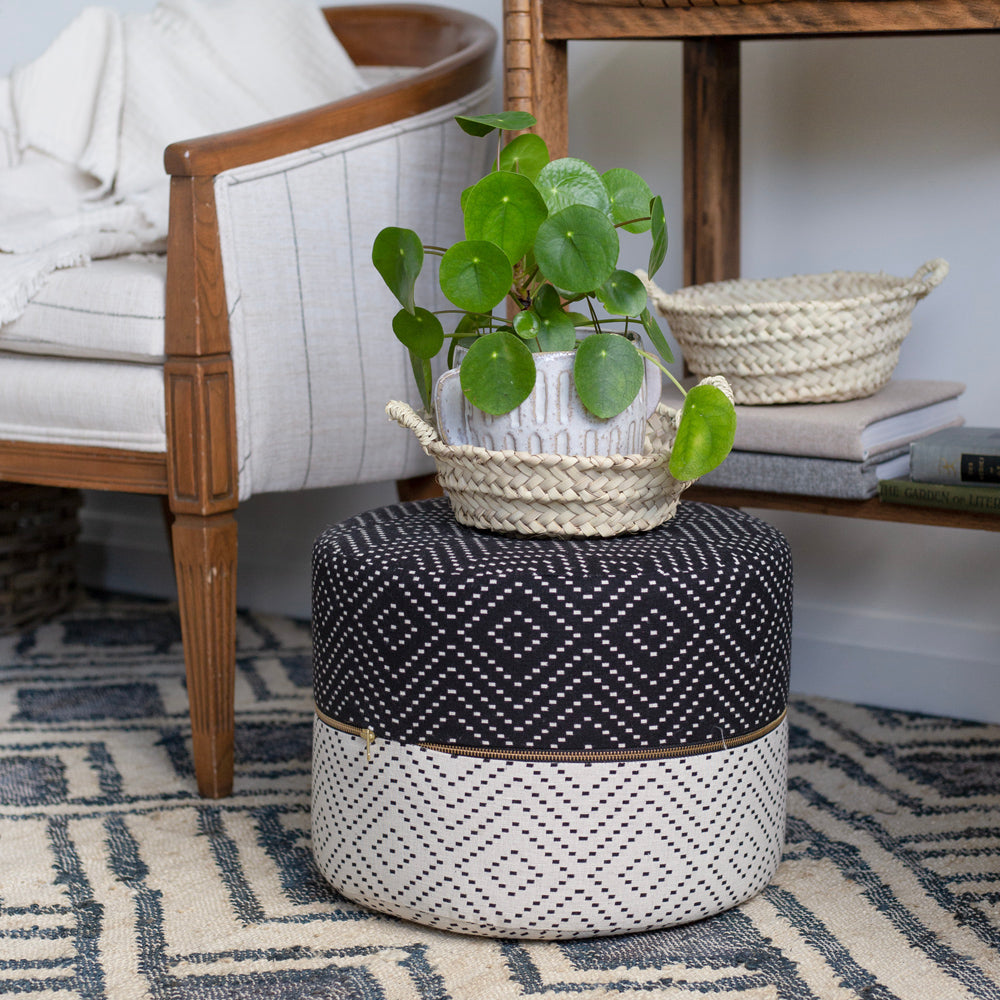 Ava Mini Round Stool, Cookies & Cream