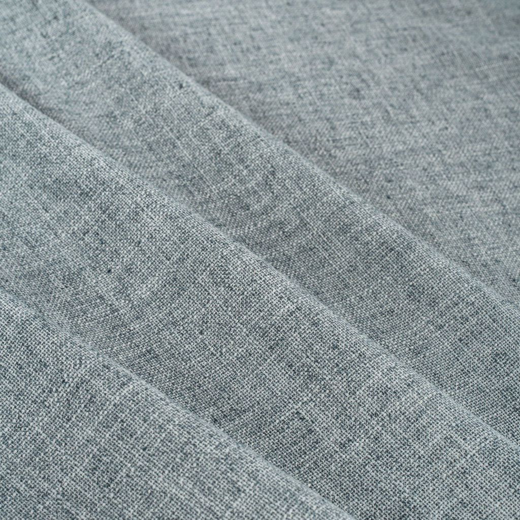 soft blue home decor fabric with a chambray look