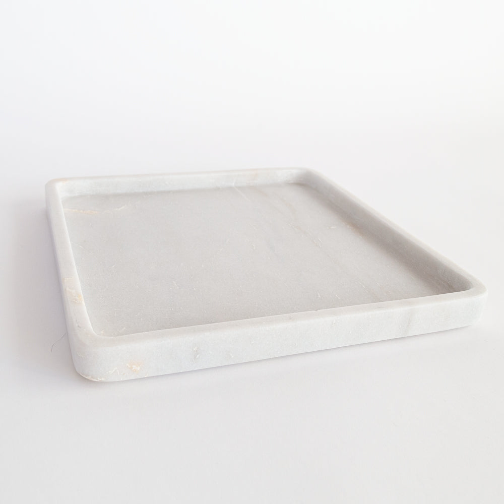 Bonnie: White marble tray from Tonic Living