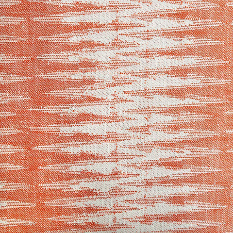 A zig zag ikat pattern with amazing texture in persimmon orange and cream, from the Justina Blakeney Home collection.