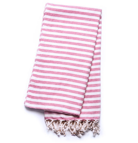 Turkish Towel - Cabana, Berry