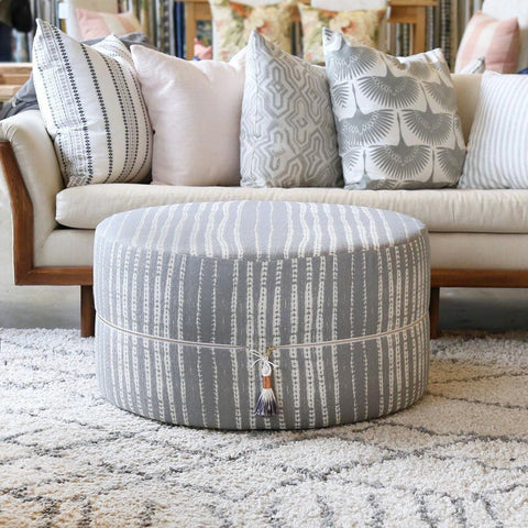 Round Ottoman Table - Camino, Conch - Tonic Living