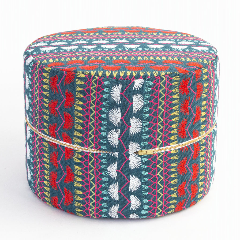 Carmen, colourful boho mini round stool at Tonic Living