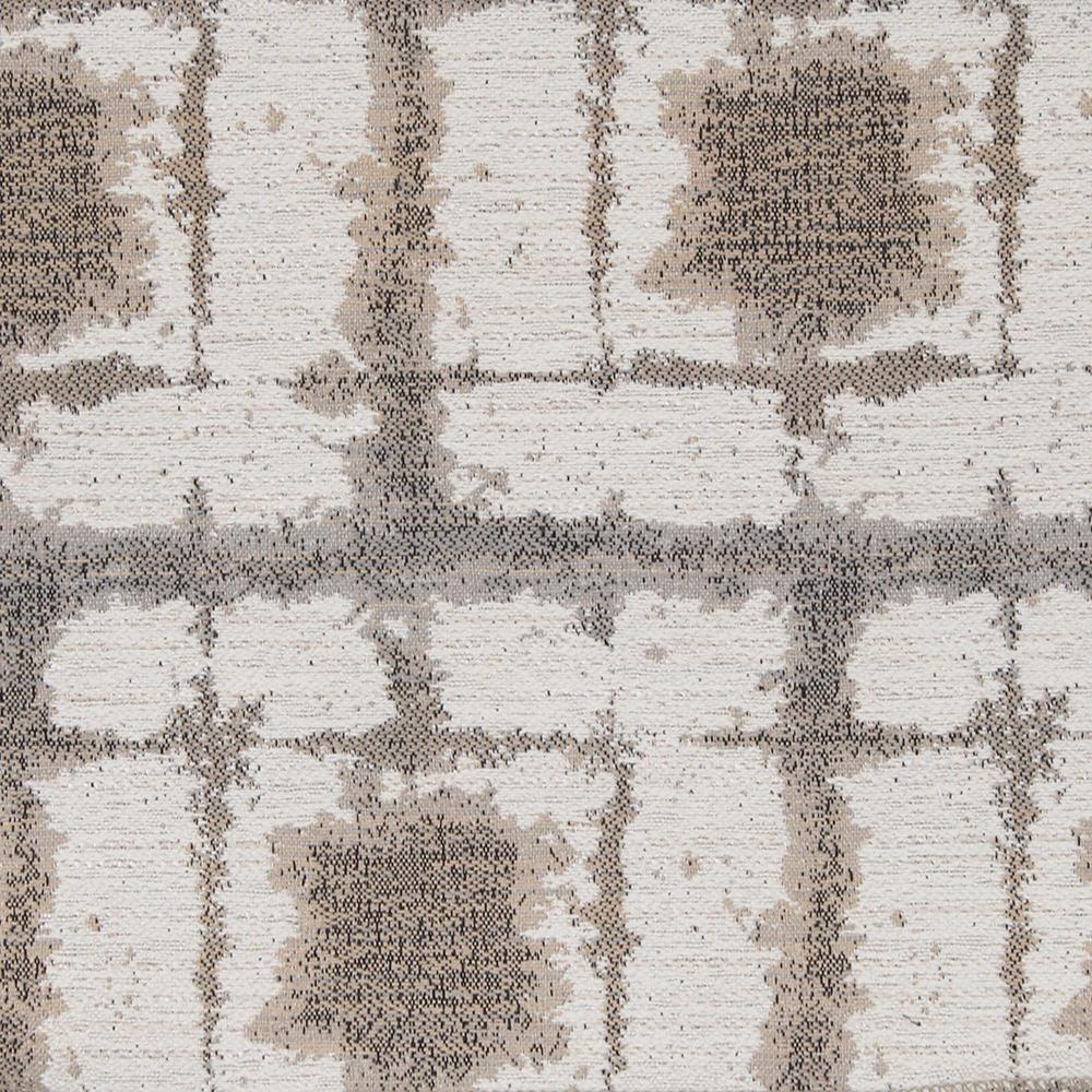"Remnant 36"" Caspian, Natural - An indoor/outdoor fabric with a warm mix of natural tan, beige and ash grey on cream."
