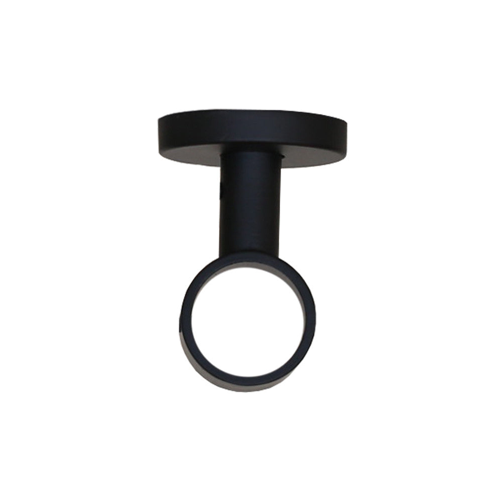 Black ceiling bracket drapery hardware from Tonic Living