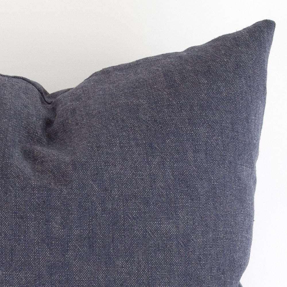 Cleary Ellen Degeneres indigo blue slub pillow from Tonic Living