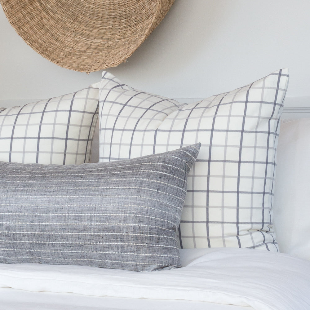 Colton and Hyden gray and cream pillow combo from Tonic Living