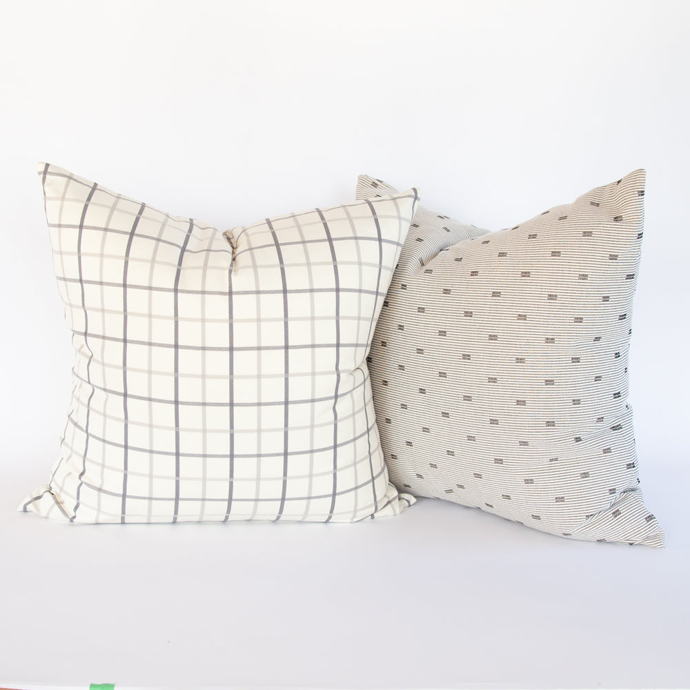 Colton and Silvio grey and cream large pillow pairing from Tonic Living