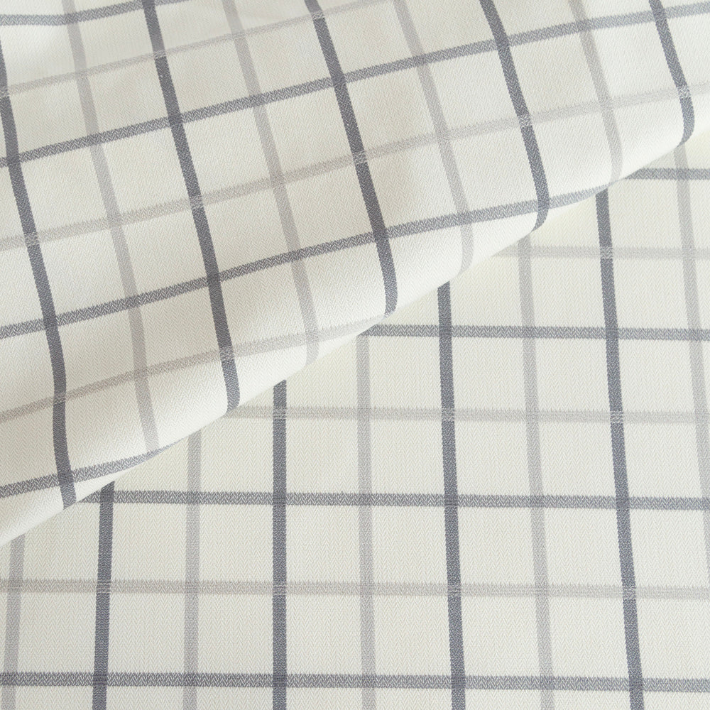 Colton grey and cream windowpane fabric from Tonic Living