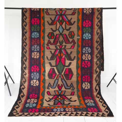 Cyrus colourful vintage Kilim from Tonic Living