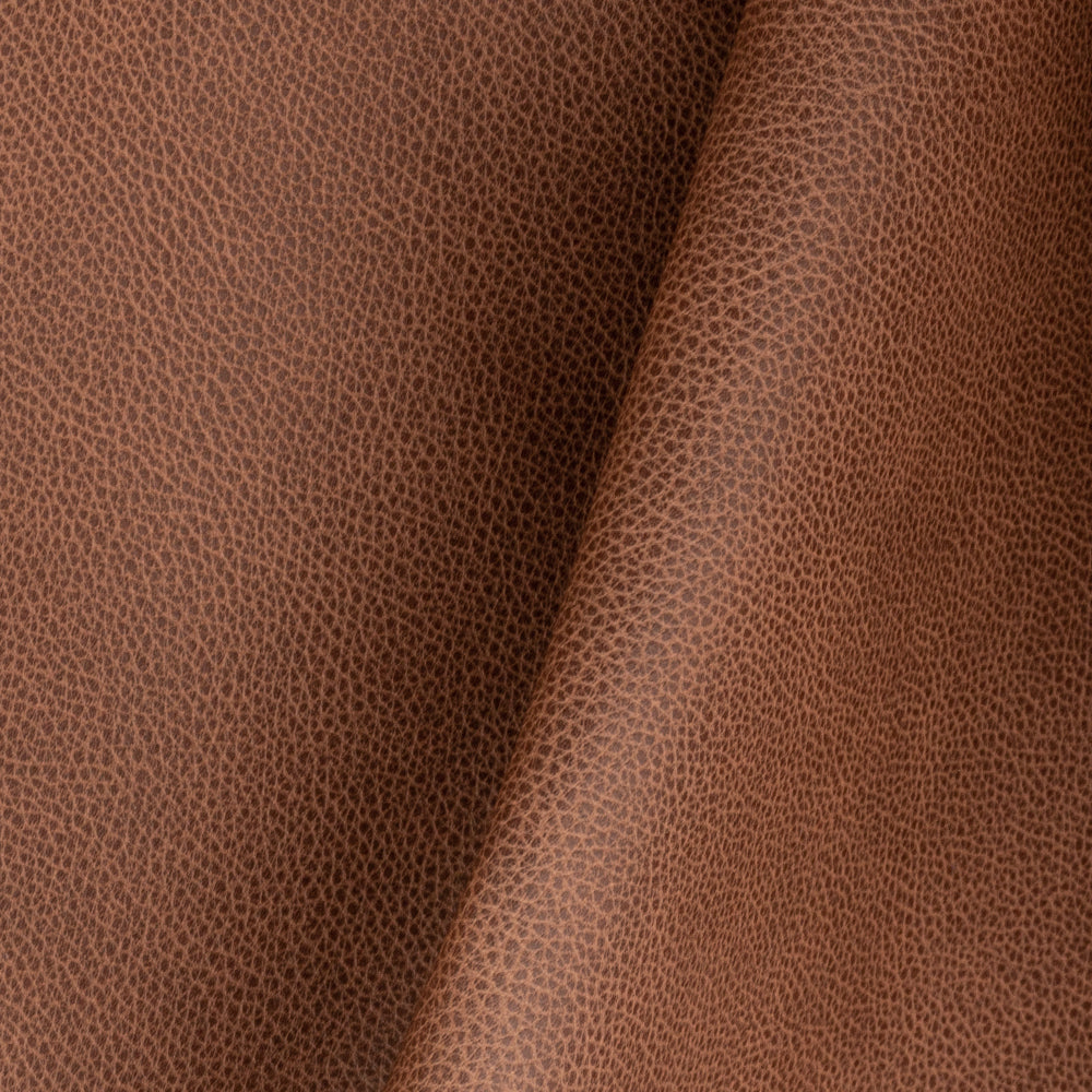 Darby cognac brown faux leather fabric from Tonic Living