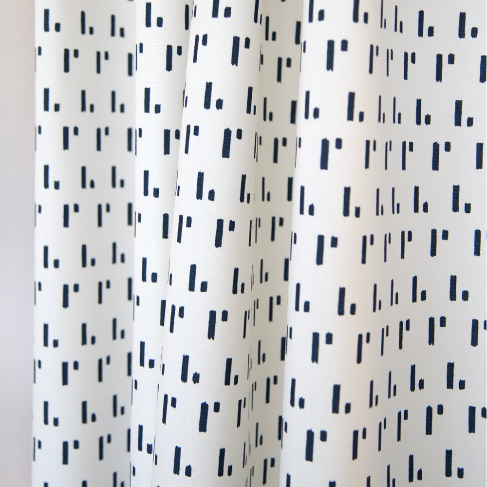 Denton, Admiral Blue, a blue and white geometric print from Tonic Living