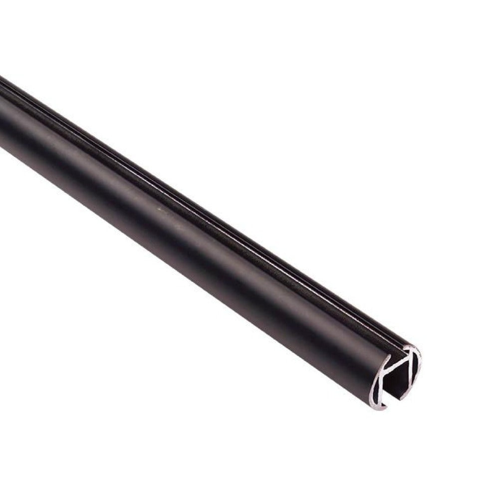 Channel Track Drapery Rod, a heavy duty black metal drapery rod from Tonic Living