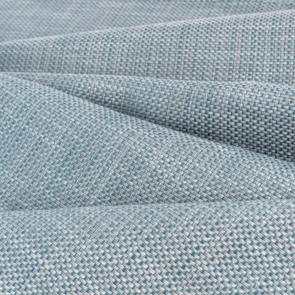 Ernesto Riviera, a grey blue basketweave indoor outdoor fabric from Tonic Living