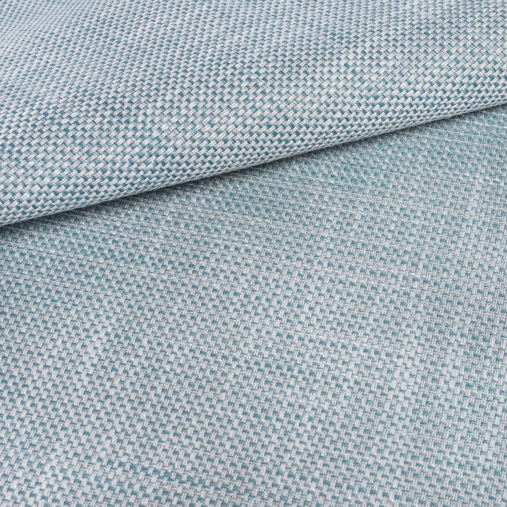 Ernesto Riviera, a grey blue indoor outdoor fabric: close up view