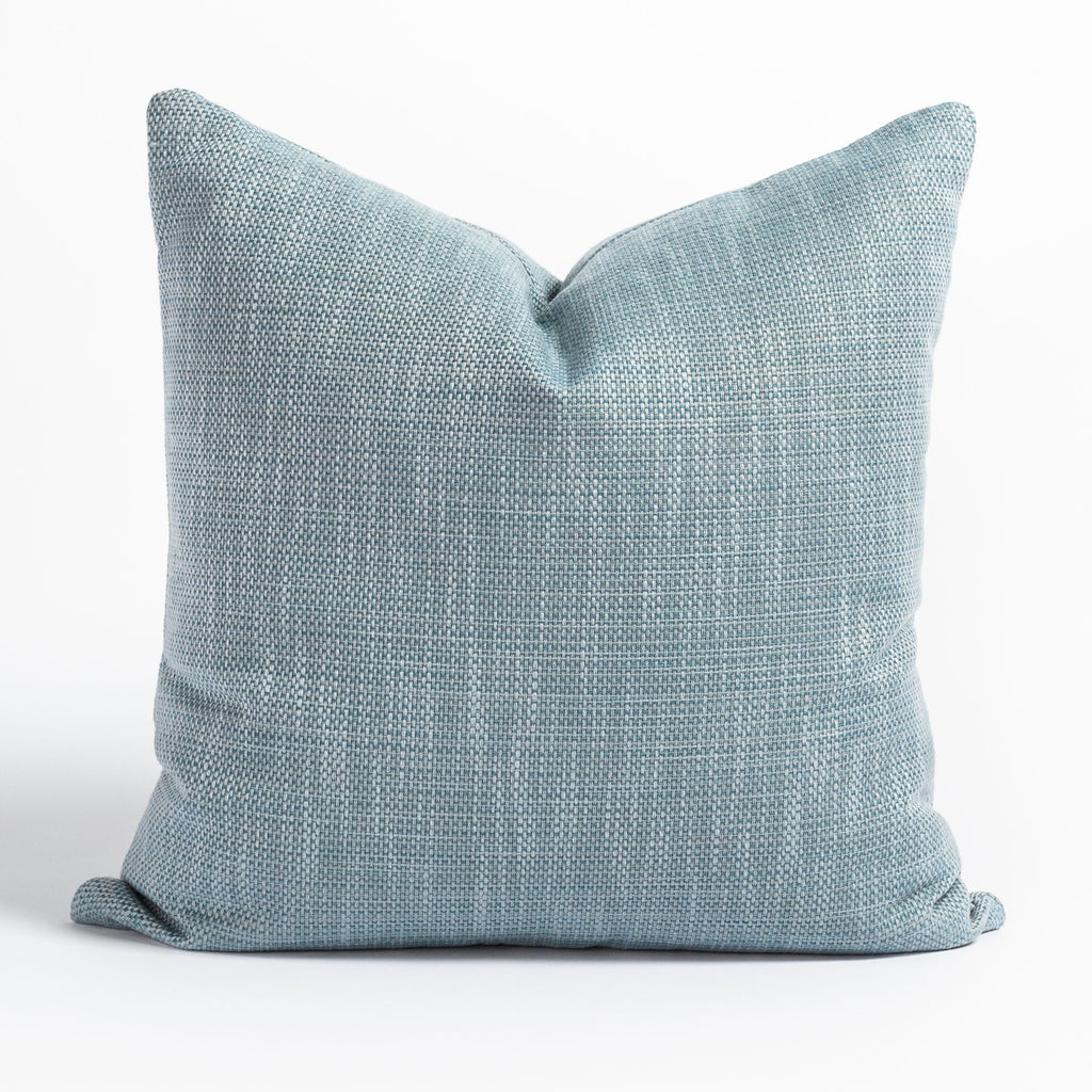 Ernesto Riviera, a textured stone blue indoor outdoor pillow from Tonic Living