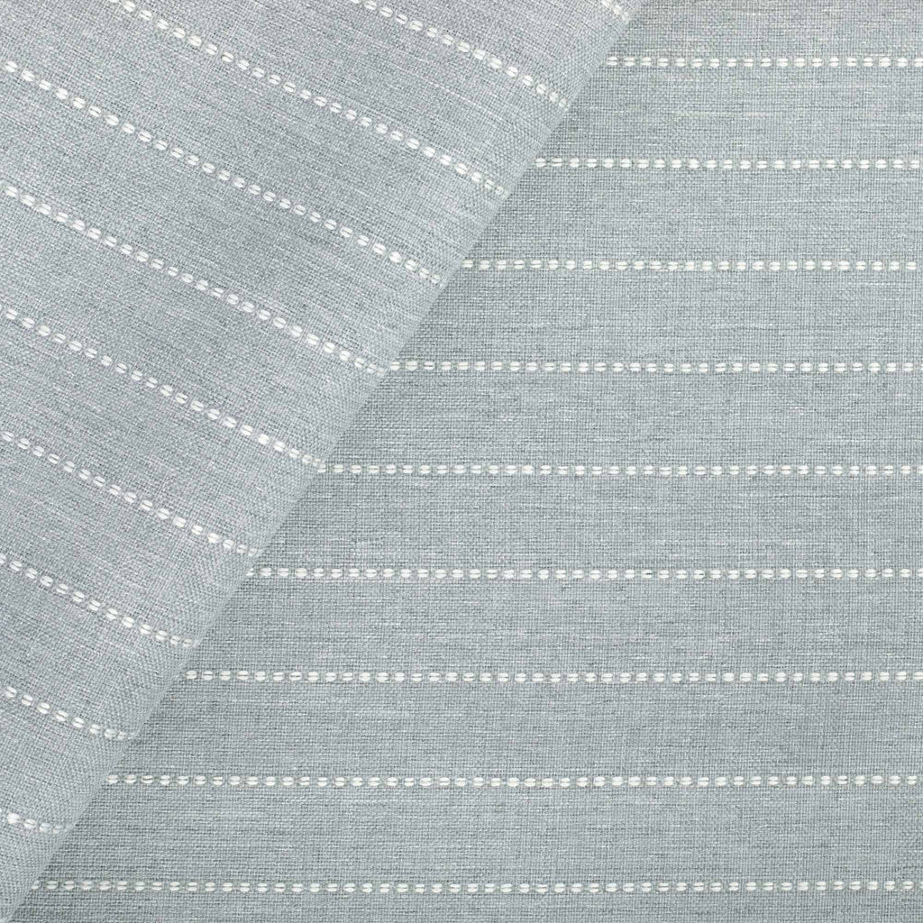 Fontana Cloud, a pale blue grey and white stripe indoor outdoor fabric from Tonic Living