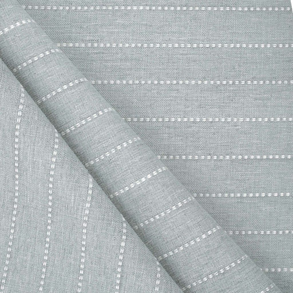 Fontana Cloud, a pale blue grey and white stripe indoor outdoor fabric : view 2