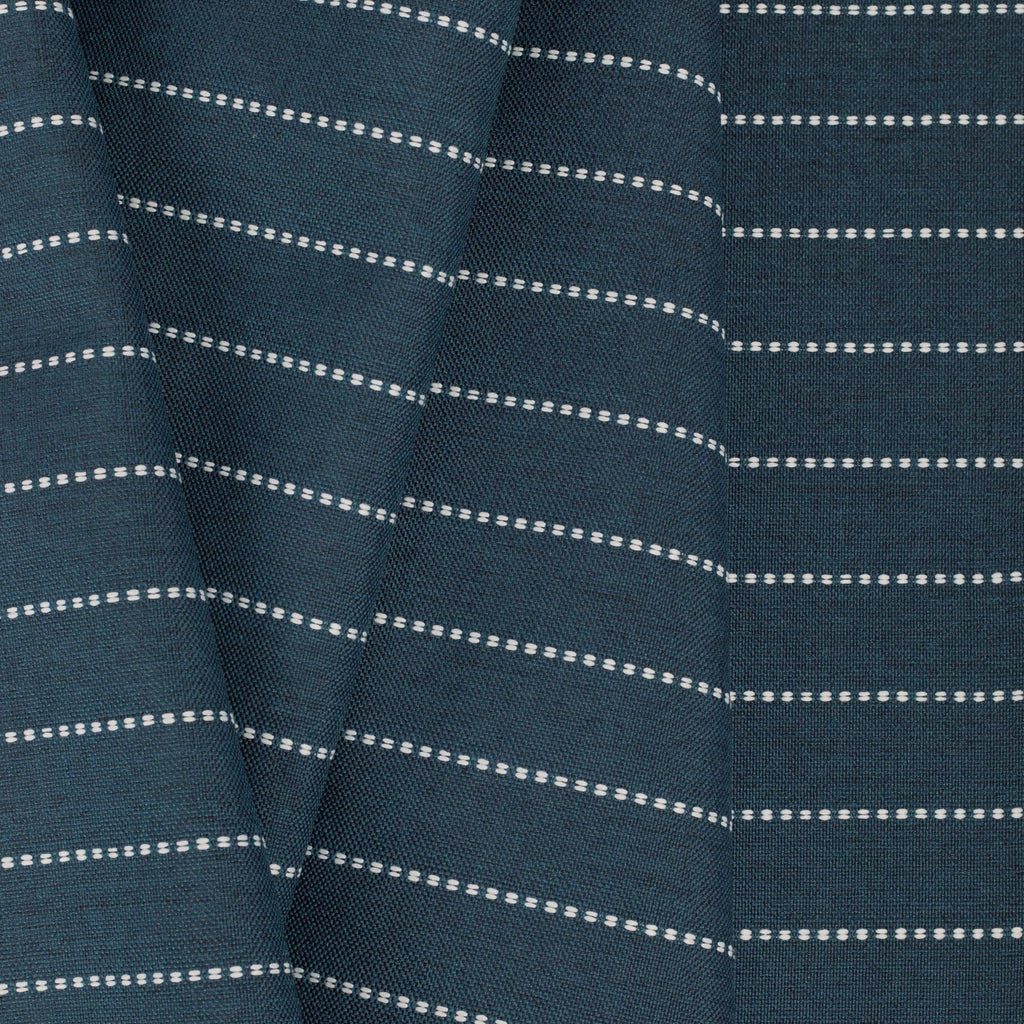 Fontana navy blue and white horizontal stripe indoor outdoor fabric : view 5