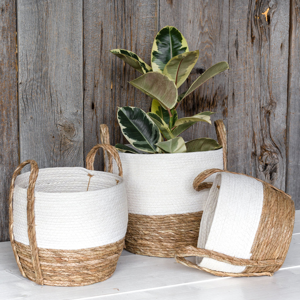 Fortaleza white and natural basket set from Tonic Living