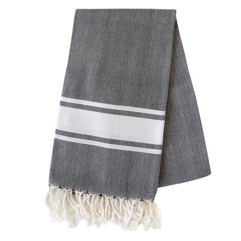 Turkish Towel - Freeport, Charcoal