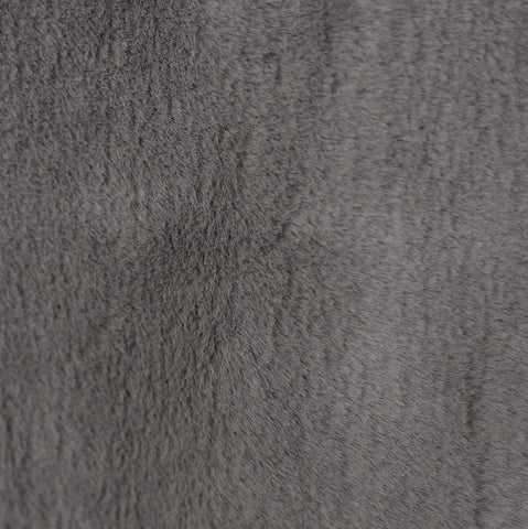 A fun textured faux fur fabric in smokey grey that is very soft to the touch. Suitable for upholstery, toss cushions, pillows and other home decor accessories. 100% Polyester, Made in Canada