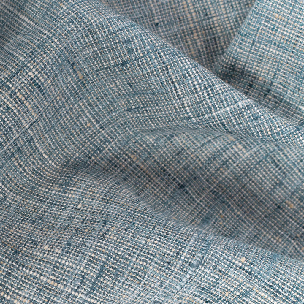 blue and flax textured weave multi purpose home decor fabric