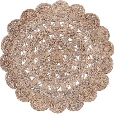 Golda round jute rug from Tonic Living