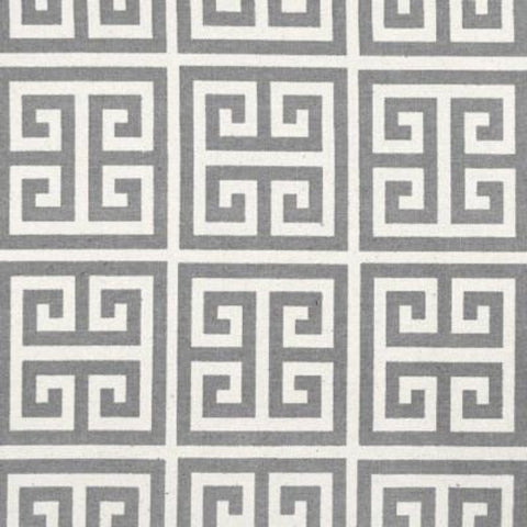 REMNANT - Greek Key, Grey Natural - 45""
