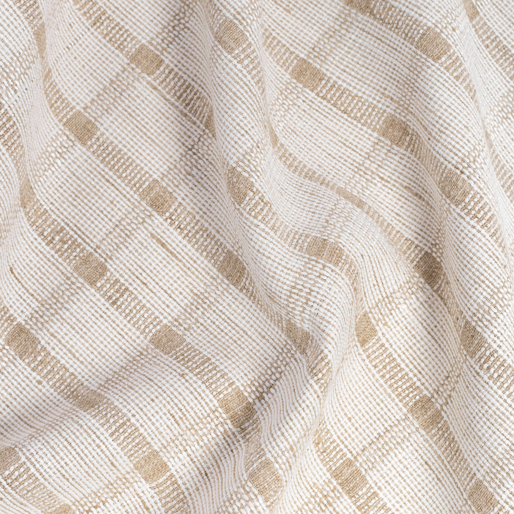 Harriet ivory and beige plaid check fabric from Tonic Living