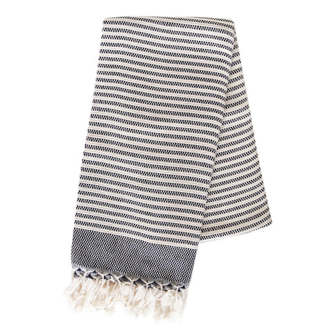 Turkish Towel - Hazelton, Navy - Tonic Living