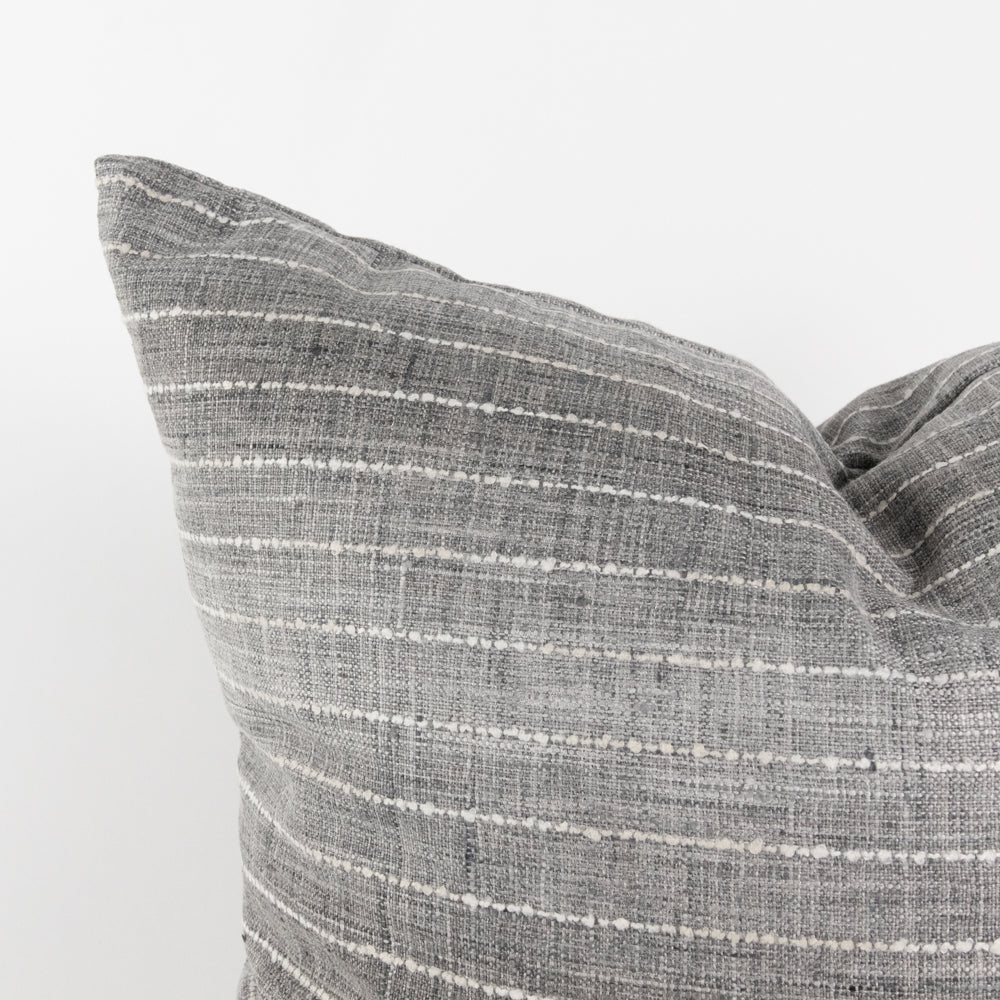 Hyden grey ombre stripe pillow from Tonic Living
