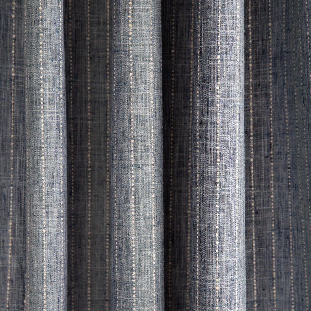 Hyden blue tones ombre stripe fabric from Tonic Living
