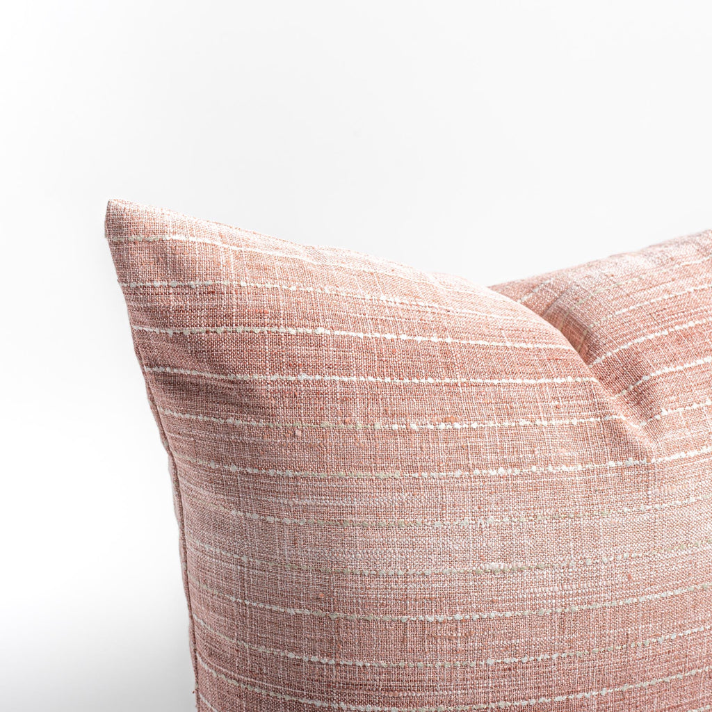Hyden Stripe 20x20 Pillow, Blush Pink