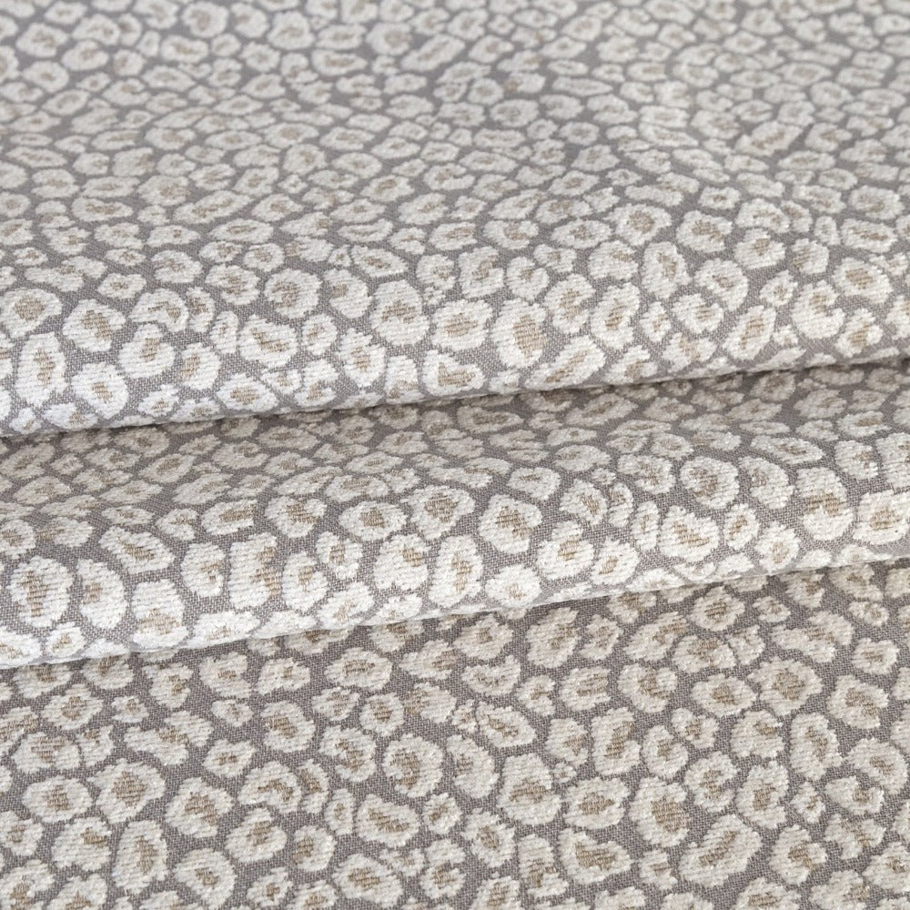 Jackie Fabric, Spots a taupe grey leopard fabric from Tonic Living