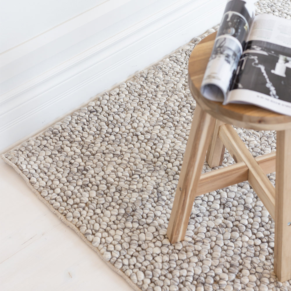 Jura silver grey marled wool rug from Tonic Living
