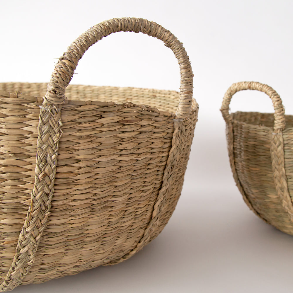Kaslo seagrass basket from Tonic Living
