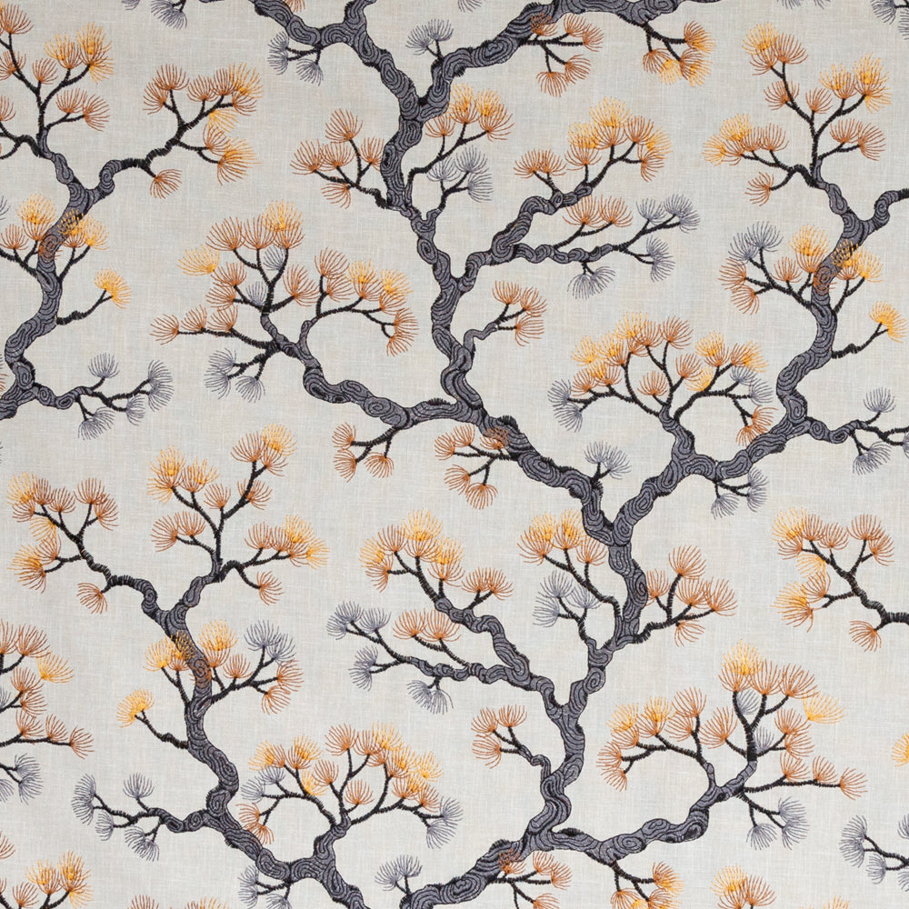 Kumano, a Japanese red pine embroidery fabric from Tonic Living