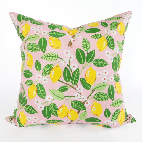 Lemon print pillow from Tonic Living