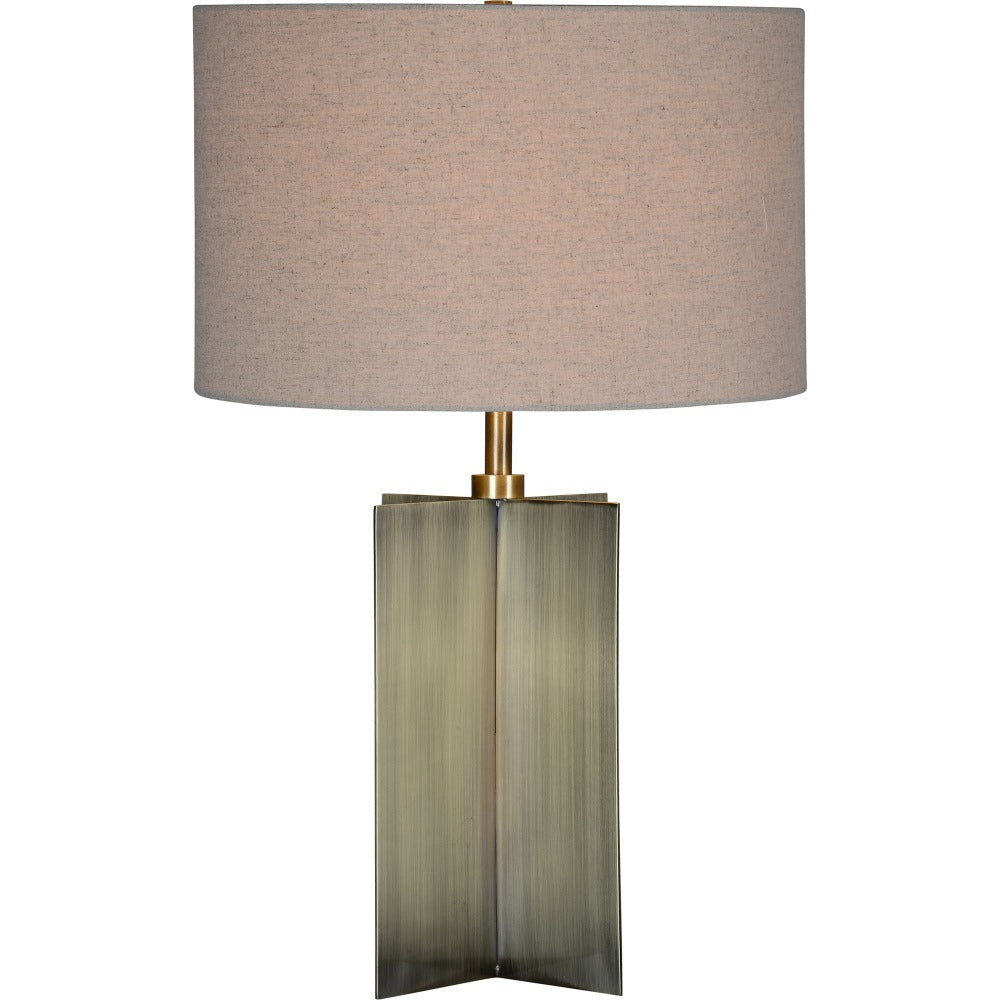 Modern antique brass table lamp from Tonic Living