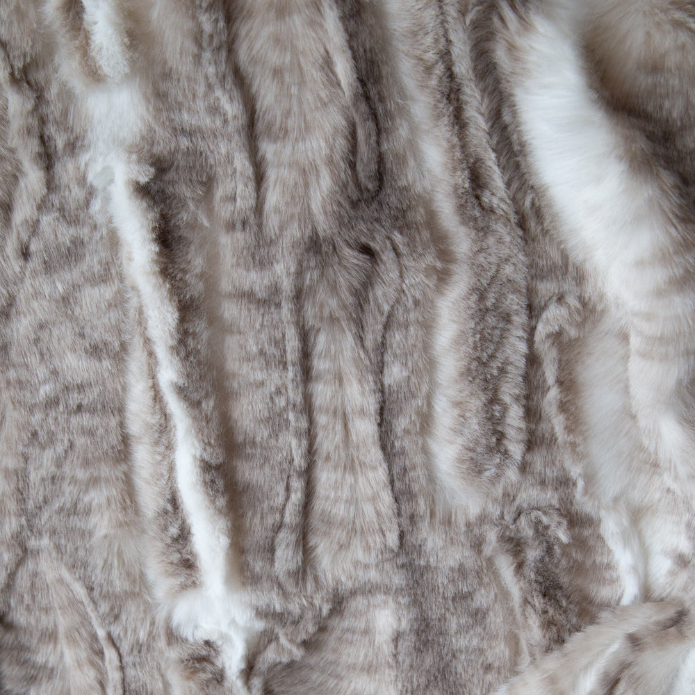 Lupa, a luxurious, beige and brown fake fur fabric from Tonic Living