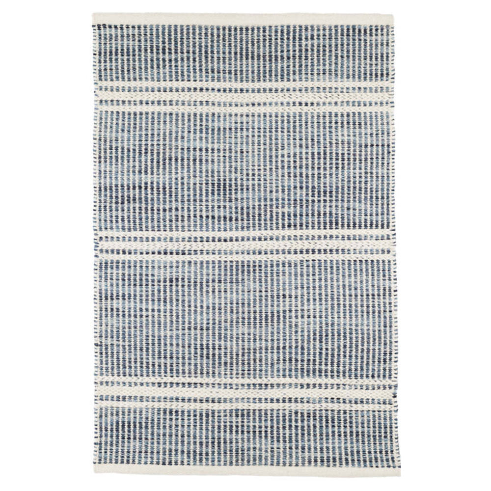 Malta blue wool Dash & Albert rug available at Tonic Living