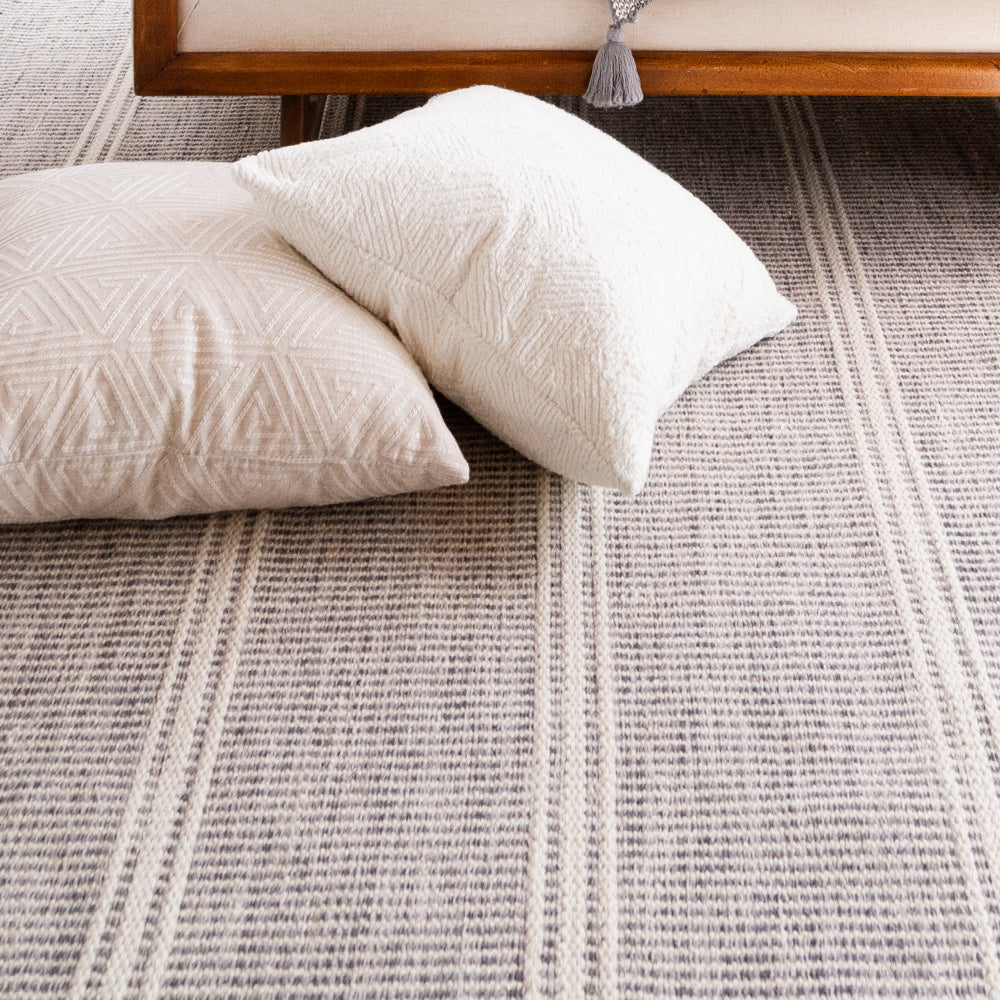Malta Grey Woven Wool Rug (Dash & Albert)