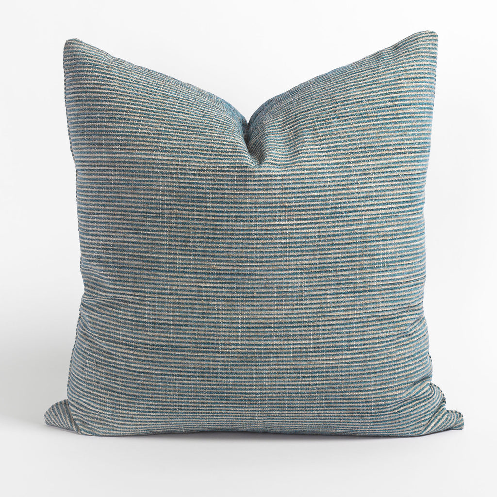 Marklin Seaglass blue striped pillow from Tonic Living
