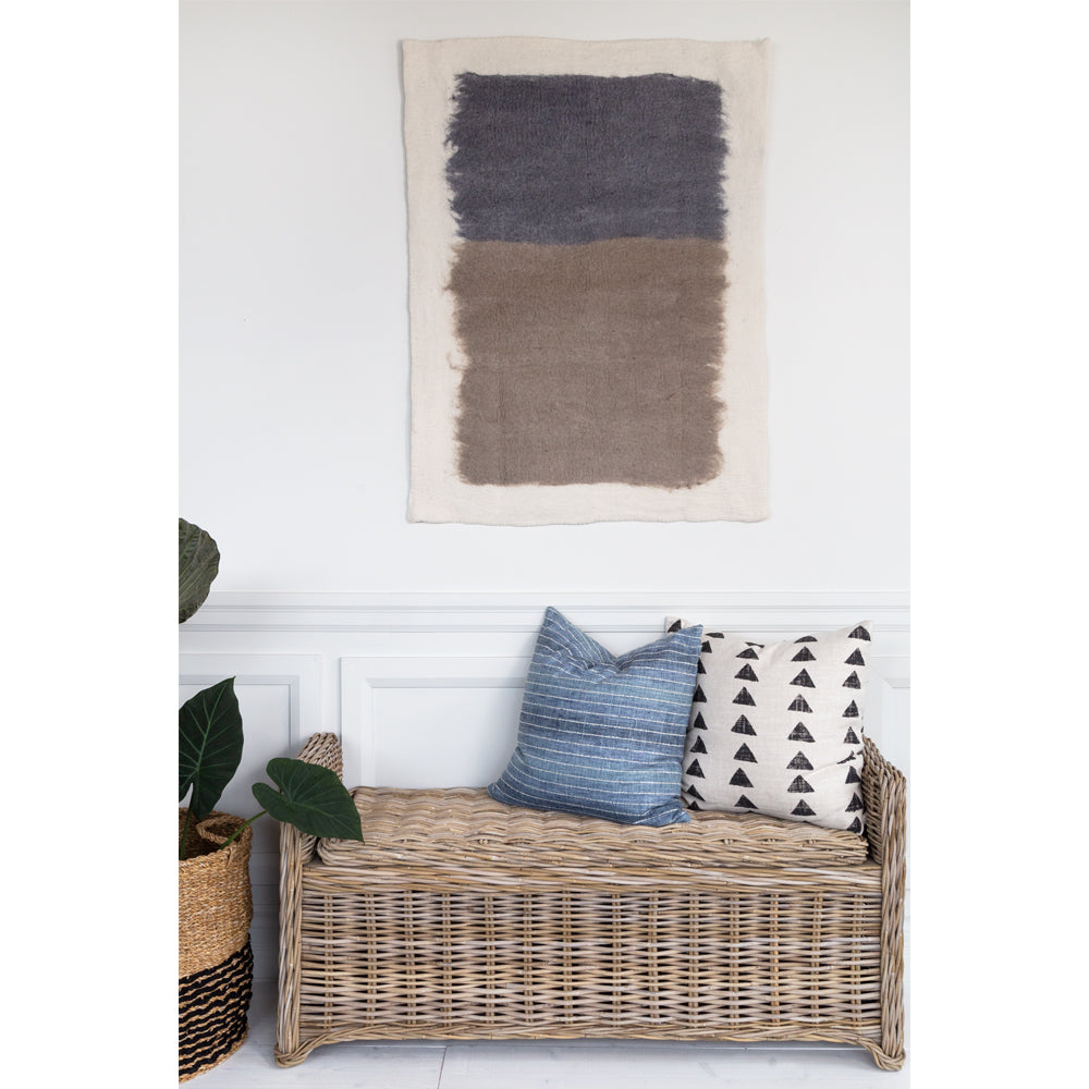Marko felted ivory, taupe and charcoal wall hanging from Tonic Living