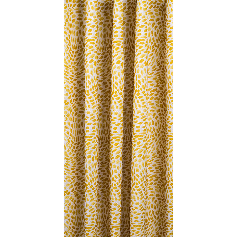 Mazzy Goldenrod, yellow swirl print fabric from Tonic Living