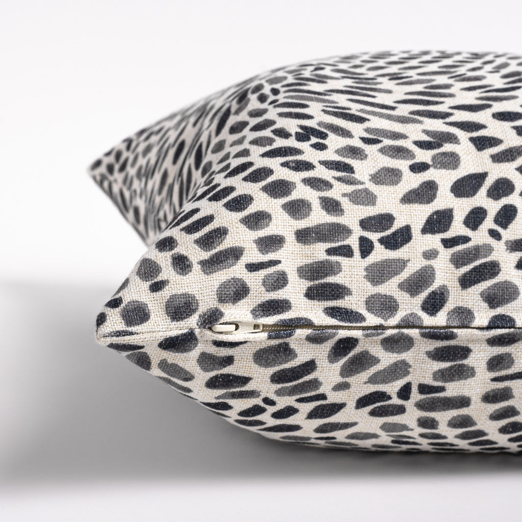 Mazzy black and white print pillow from Tonic Living